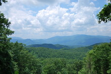 Panorama Landschaft In Great Smoky Mountains National Park, Tennessee