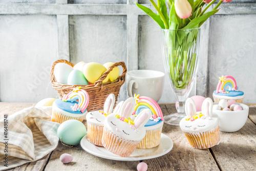 Cute homemade easter cupcakes