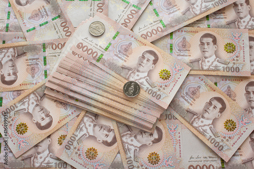 Vászonkép banknotes background for finance and investment business concept