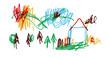 rysunek dom dziecko