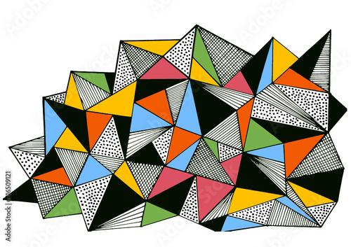 abstrakcja trójkąty - fototapety na wymiar