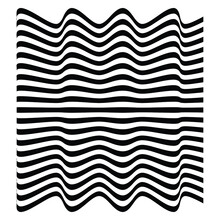 Optical Art Abstract Vector Background Shape Wave Design Black And White Op Art  3d Design, With Organic Effect.