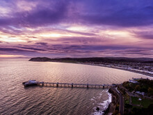 Llandudno Pier And Bay Aerial View