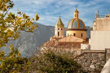 San Gennaro Church In Praiano. Positano, Campania, Italy.