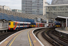 Trains At London Waterloo Station In London