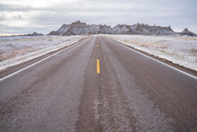 The Road To The Badlands, Badlands National Park, South Dakota, United States Of America, North America
