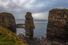 Castle Sinclair Girnigoe View Nc500 North Coast 500 Scotland Clifs Rocks And Ocean
