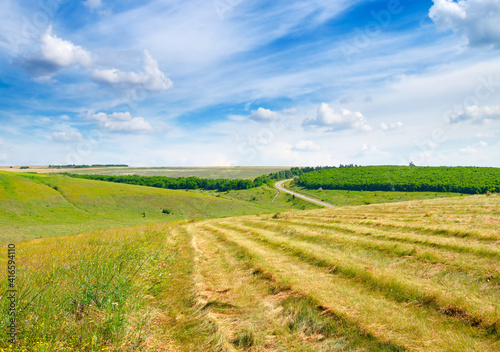 Scenic landscape of farm field. © Serghei Velusceac