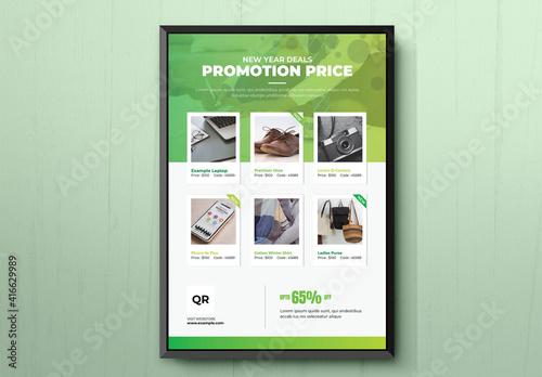Fototapeta Product Promotional Flyer obraz