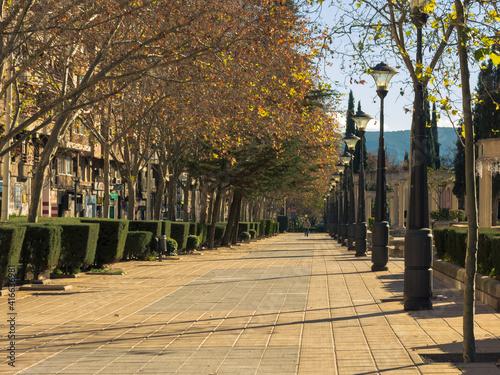 Paseo de San Gregorio in Puertollano. Ciudad Real, Spain