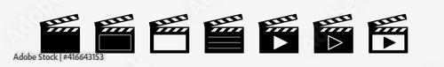 Clapper | Clapboard Logo | Clapperboard Variations Fotobehang