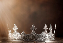 Silver Metal King Or Queens Crown In The Sunlight