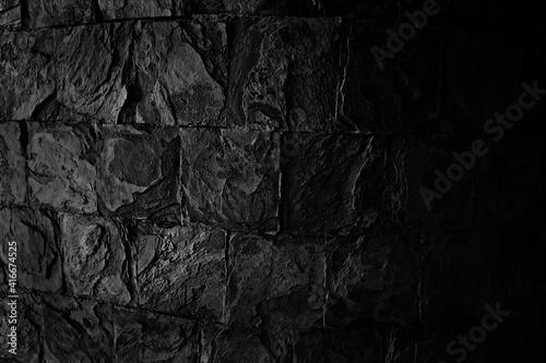 streszczenie czarne tło puste betonowe ściany grunge sztukaterie pęknięty tekstury