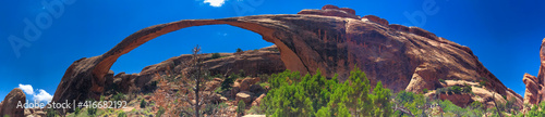 Amazing Landscape Arch in Arches National Park, Utah - Panoramic view Fotobehang