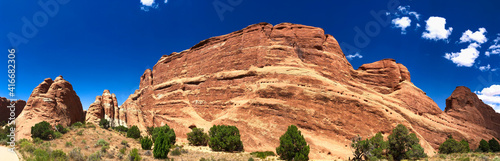 Foto Amazing landscape of Arches National Park, Utah - Panoramic view
