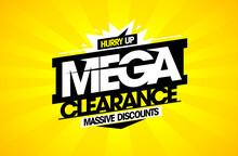Mega Clearance, Massive Discounts Sale Mockup