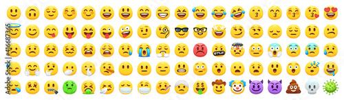 Canvas Yellow emoji faces