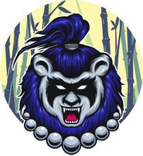 Panda Hair Mascot