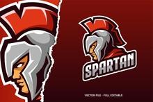 Spartan E-sports Game Logo Template