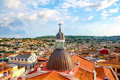 Fotografie, Obraz Santiag de cuba above