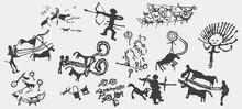 "Rock Paintings In The Mountains Of Kyrgyzstan. The Original Name Is ""Saimaluu-Tash"". Victor."
