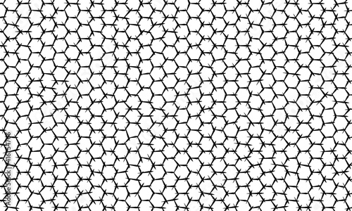 Photo abstract monochrome asymmetry hexagon background