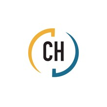 Initial Letter Ch Swoosh Design Logo Concept, Swoosh Logo.