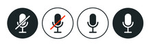 Drop In Audio Chat Microphone Icons. Vector Illustration For Clubhouse App