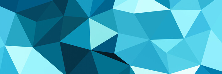 Abstract blue triangle shape background