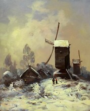 Old Mill In The Snow