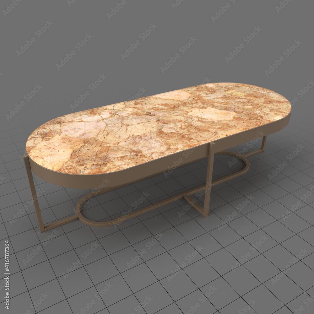 Fototapeta Oval coffee table