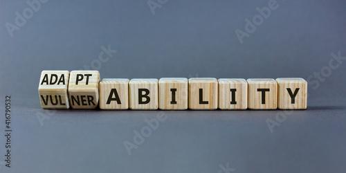 Fotografie, Obraz Vulnerability or adaptability symbol