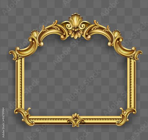 Fotografía Gold classic frame of the rococo baroque