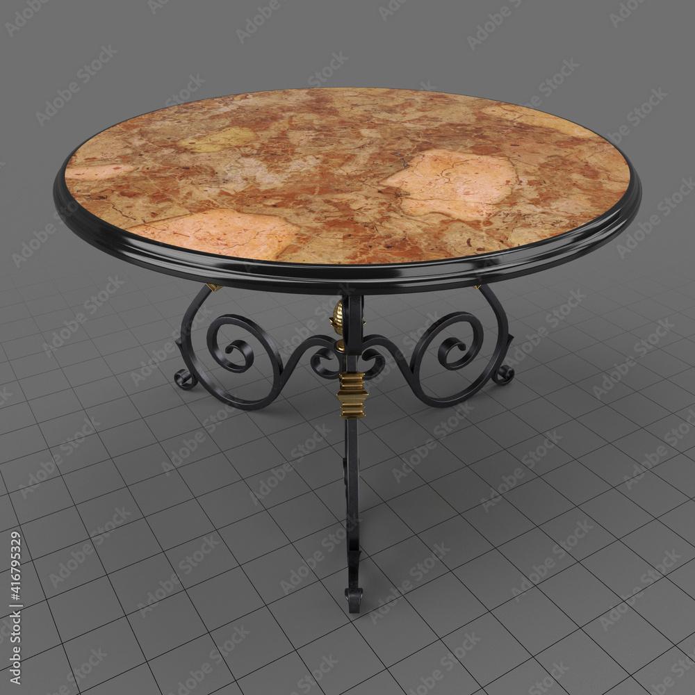 Fototapeta Round wrought iron table