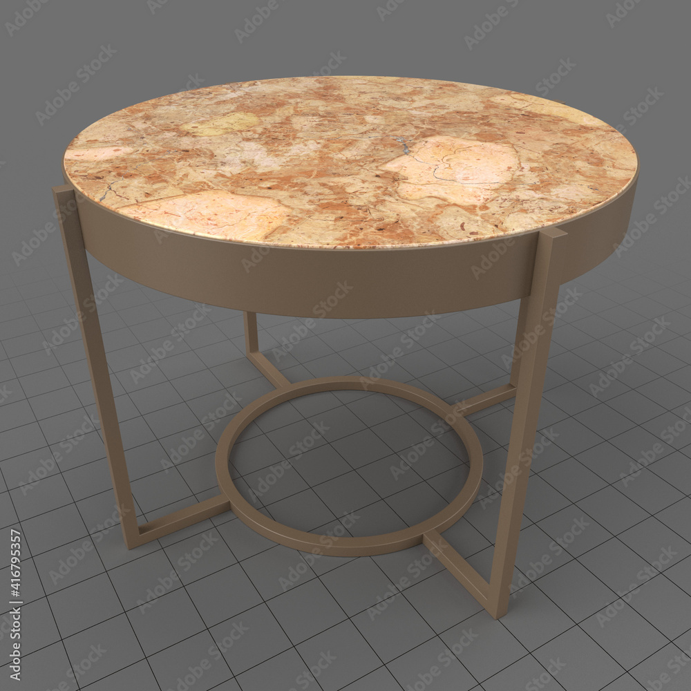 Fototapeta Round side table