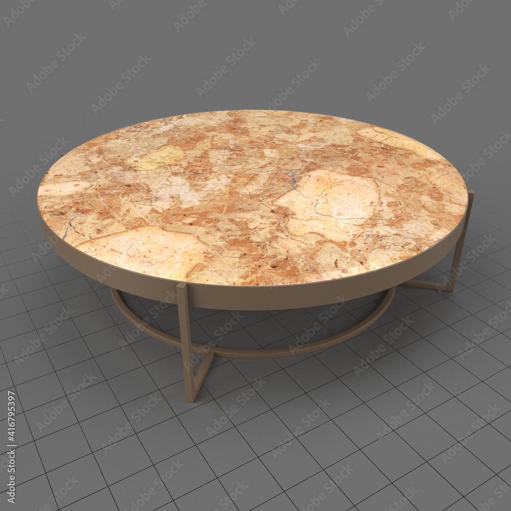 Fototapeta Round coffee table 1