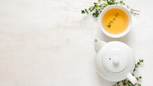 Cup Of Tea | White Cup Of Tea | Cup Of Tea With Mint