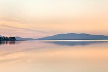 A Fascinating Party Landscape For Meditation. Calm On The Lake, Kola Peninsula Tersky District Lake Kolvitsa.