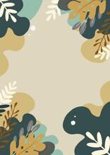 Ilustración Abstracta Con Motivos Florales