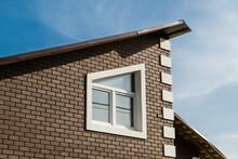 Modern Brick House With Slanting Window