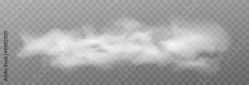 Vector cloud of smoke or fog. Fog or cloud on an isolated transparent background. Smoke, fog, cloud png. - fototapety na wymiar