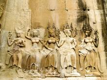Line Art Angkor Wat  ,Angkor Thom , Siem Reap, Cambodia