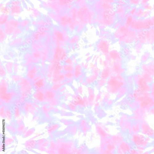 Fototapeta Tie dye shibori seamless pattern. Watercolour abstract texture. obraz