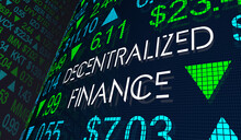 Decentralized Finance DeFI New Financial Platforms Cryptocurrencies 3d Illustration