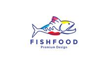 Lines Art Abstract Deep Sea Fish Predator Logo Design Vector Icon Symbol Graphic Illustration