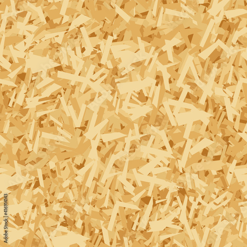 Fototapeta Vector seamless pattern of OSB boards from wood chips