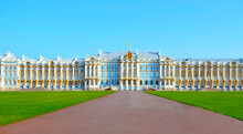 Catherine Palace In Tsarskoe Selo (Pushkin), St. Petersburg, Russia