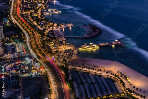 Fototapeta Cityscape of Jeddah seashore obraz