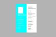 Elegant style resume design vector template