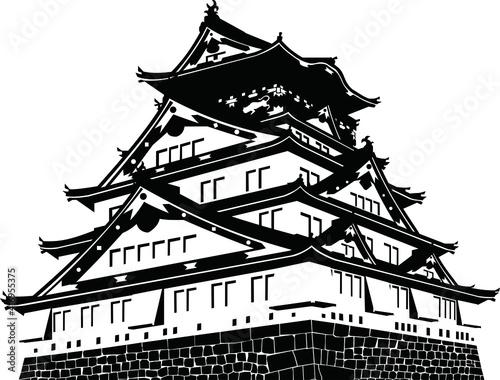 大阪城・天守 Fotobehang